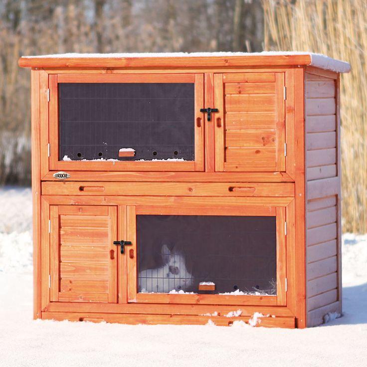 Trixie 62404 Kaninchenstall winterfest mit Wärmedämmung isoliert