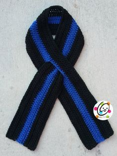 thin blue line scarf free crochet pattern When we have attended police officer funerals we wear black ribbons with a thin blue line, an emblem to show support of fallen officers.