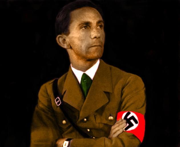 This is Joseph Goebbels, the Reich Minister of Propaganda ...