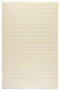 Frontier Pale Blue Hand Woven Wool Rug - contemporary - kids rugs - by Layla Grayce