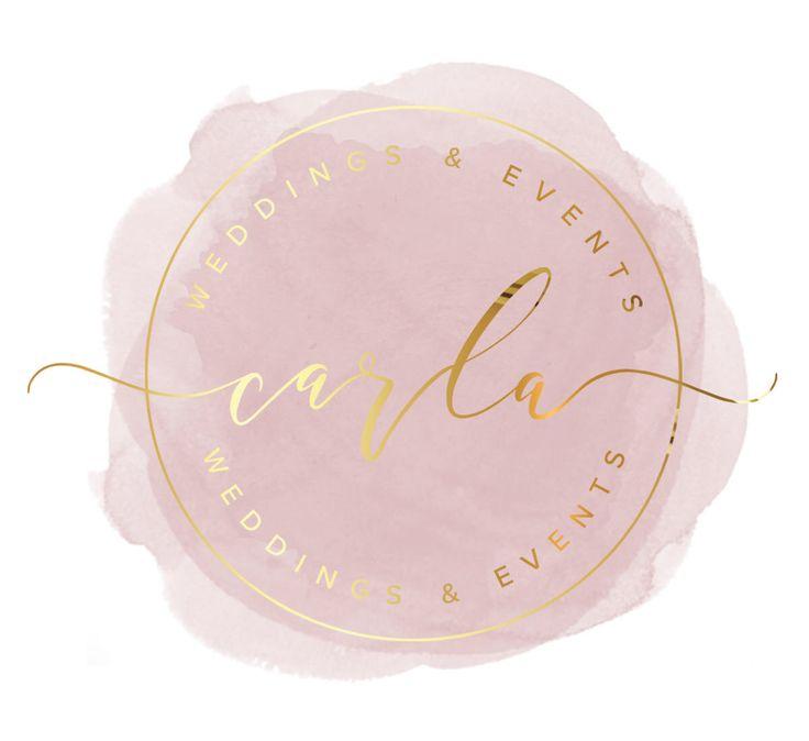 Premade Logo Design | 'Carla' | Watercolour Logo | Photography Logo | Blog Header | Business Branding | Branding Design | Gold logo | Custom