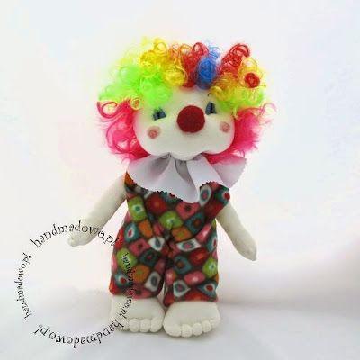 HANDMADOWO: Klaun Maurycy #lalka #doll #szyteprezenty #handmade