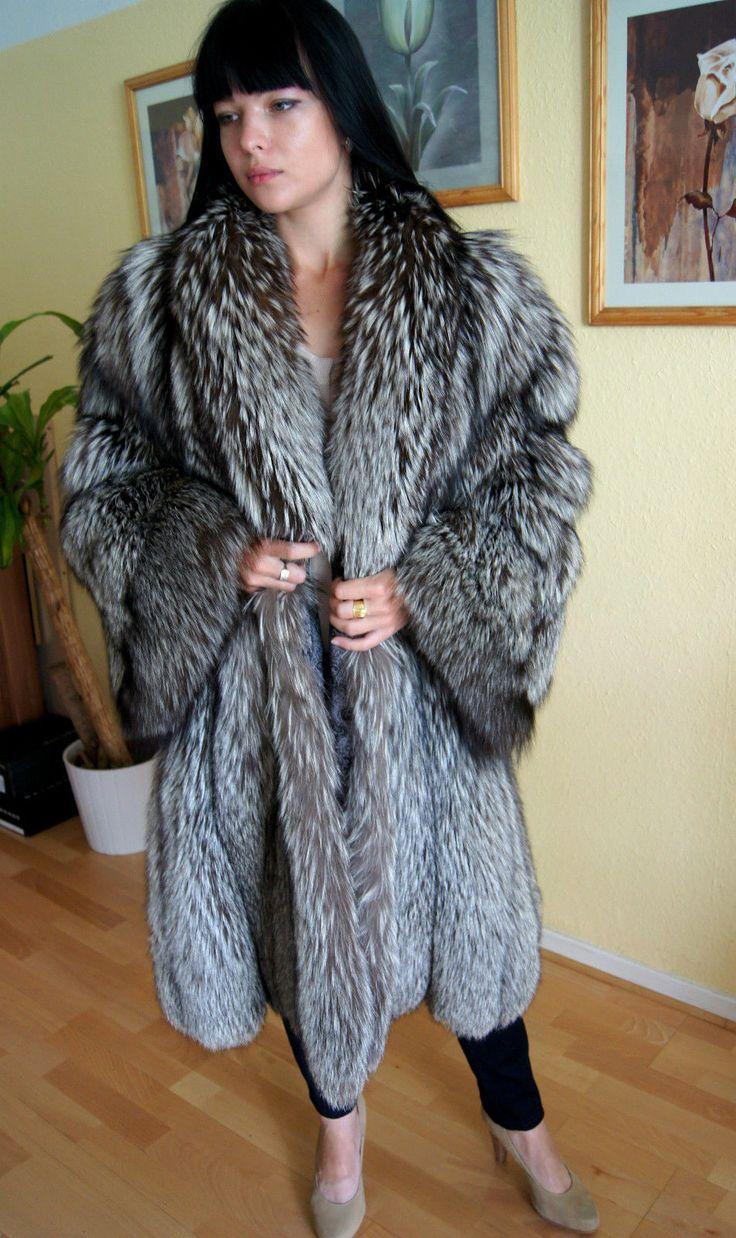 Pelzmantel silberfuchs silver fox fur coat pelz fur27 for Bilder fur kuchenwande
