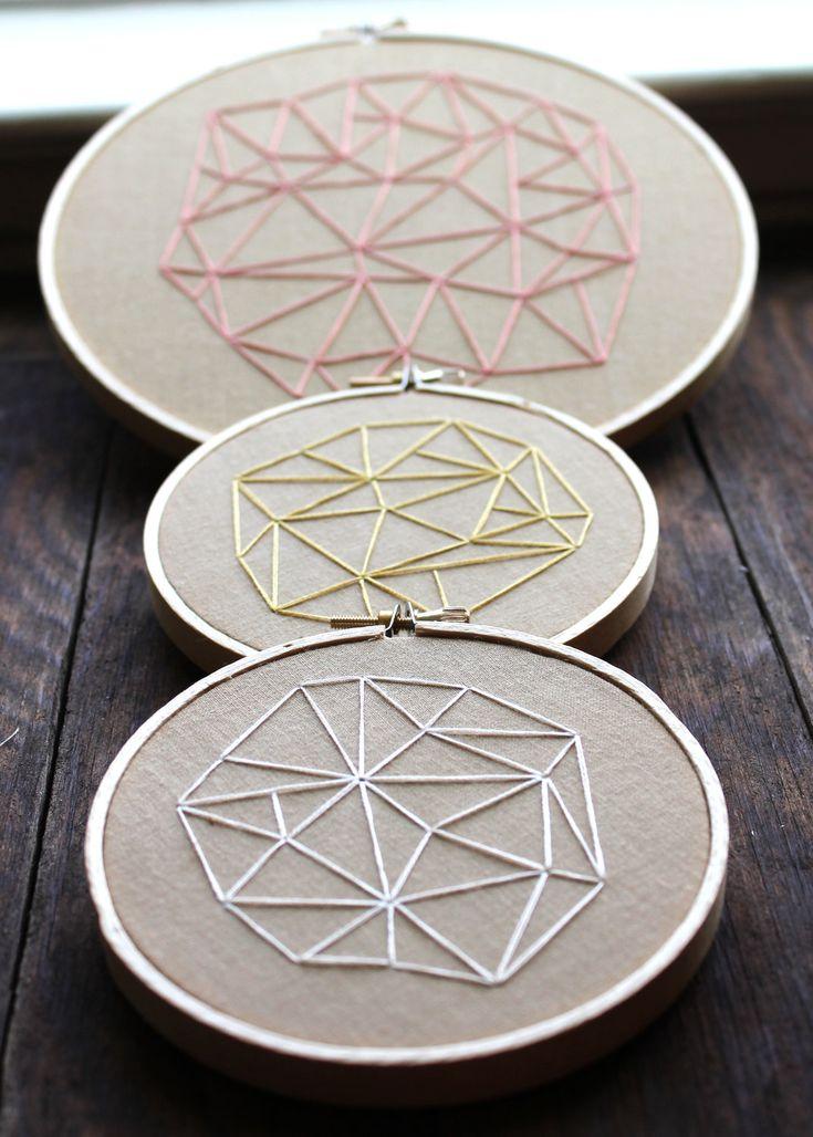 Geometrics Embroideries, via Etsy.