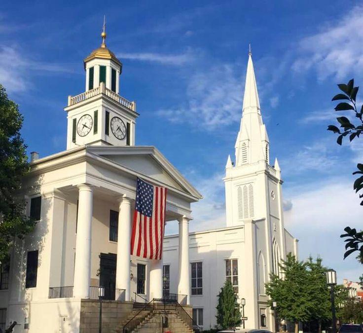 Maysville, Kentucky- Mason County Courthouse and  Maysville Presbyterian Church July 2016