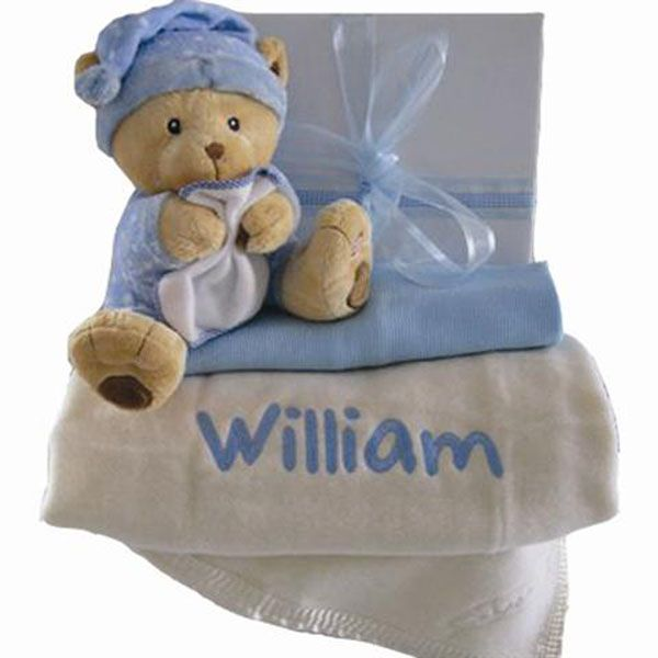 Personalised baby hamper cot blanket 100% pure new wool #personalisedbabyblankets