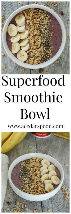 Superfood Smoothie Bowl | Recipe | Smoothie Bowl, Pomegranate Seeds ...