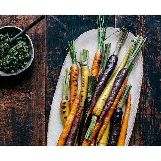 Brighten up your Spring with a trio of chargrilled heirloom carrots packed with vitamins and antioxidants. Visit our blog for more recipes. #goldendoorau #cleaneating #goldendoorcookbook