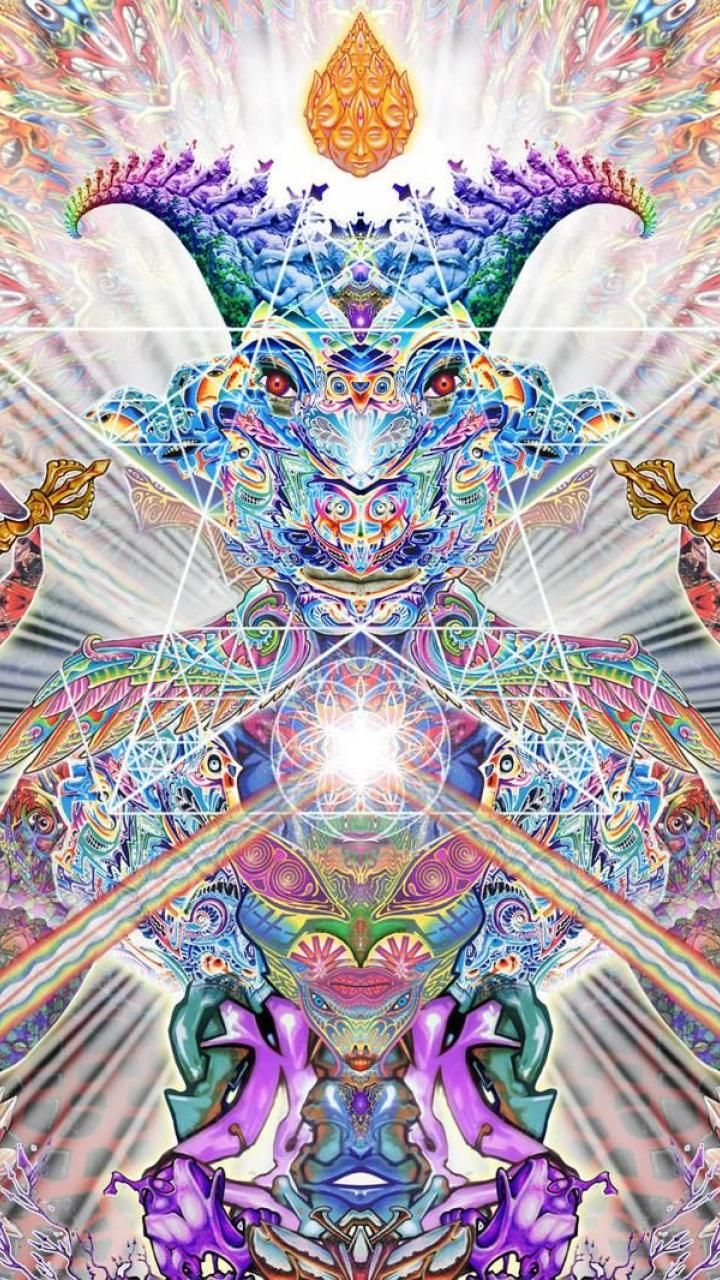 Wallpaper iphone psychedelic - Multicolor Psychedelic Satan 1506573 720x1280 Jpg 720 1280