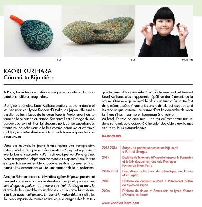 Kaori Kurihara - céramiste bijoutière  - Salon REVELATIONS 2015