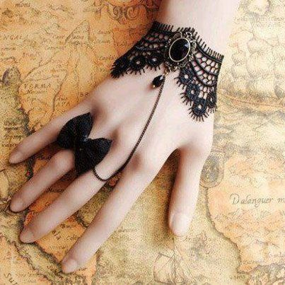 See more Black Bracelet and butterfly rings