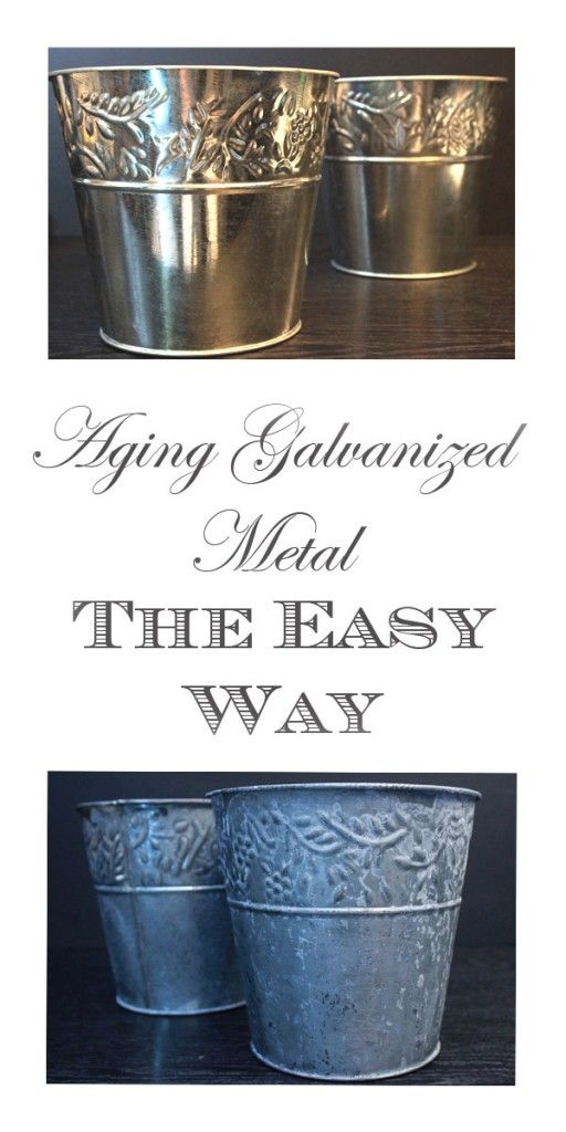 2 Super easy Methods for Aging Metal, using products that you already have!!