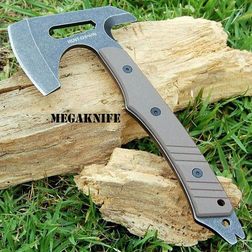 "9"" SURVIVAL CAMPING TOMAHAWK THROWING AXE BATTLE Hatchet hunting knife tactical- - MEGAKNIFE"