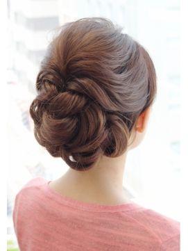 結婚式 髪型 ロングヘアアレンジ 結婚式に☆おしゃれで華やか大人アップスタイル♪