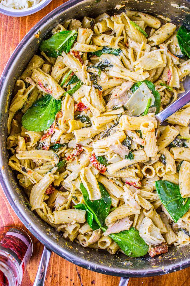 Light chicken artichoke pasta recipe