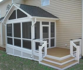 Raleigh Screened In Room by Deck  Screen Porch Contractors, Raleigh Wendell 27591