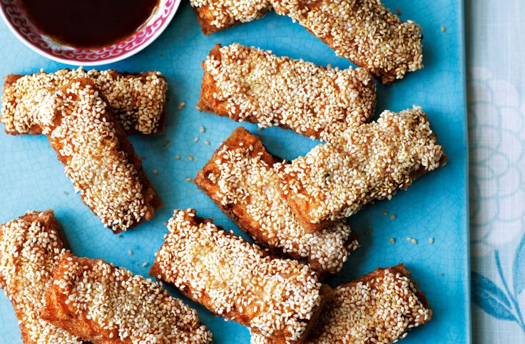 This sesame prawn toast makes the perfect starter to an Asian banquet, packed full of prawn, chestnuts and minced pork.
