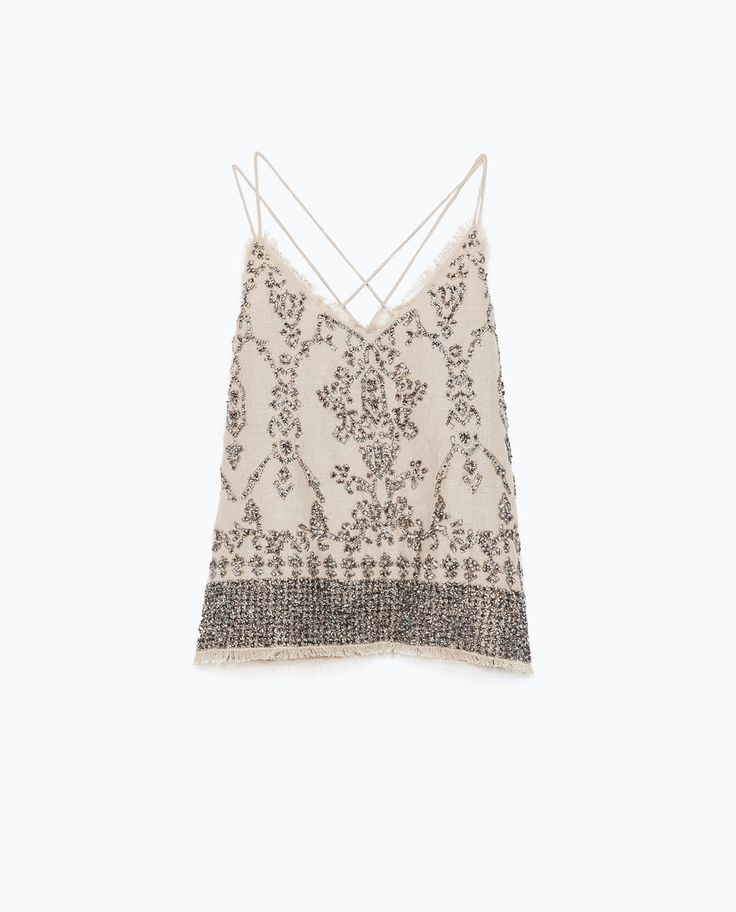ZARA - NEW THIS WEEK - TOP WITH SEQUINS