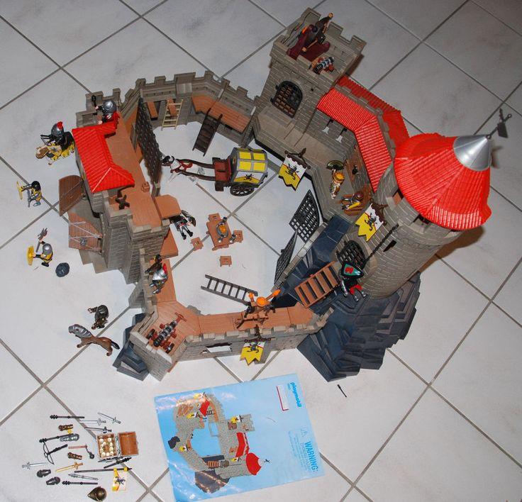 Playmobil Große Löwenritterburg 4865 inkl. 3314 Goldkutsche / Festung