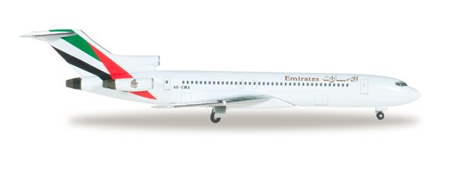 """1/500 Herpa Emirates Airline Boeing 727-200 Registration: A6-EMA 526968 IN STOCK - item usually ships within 24 hours Length 3.68"""" Wingspan 2.59"""" Each model is very collectible and all regular release"""