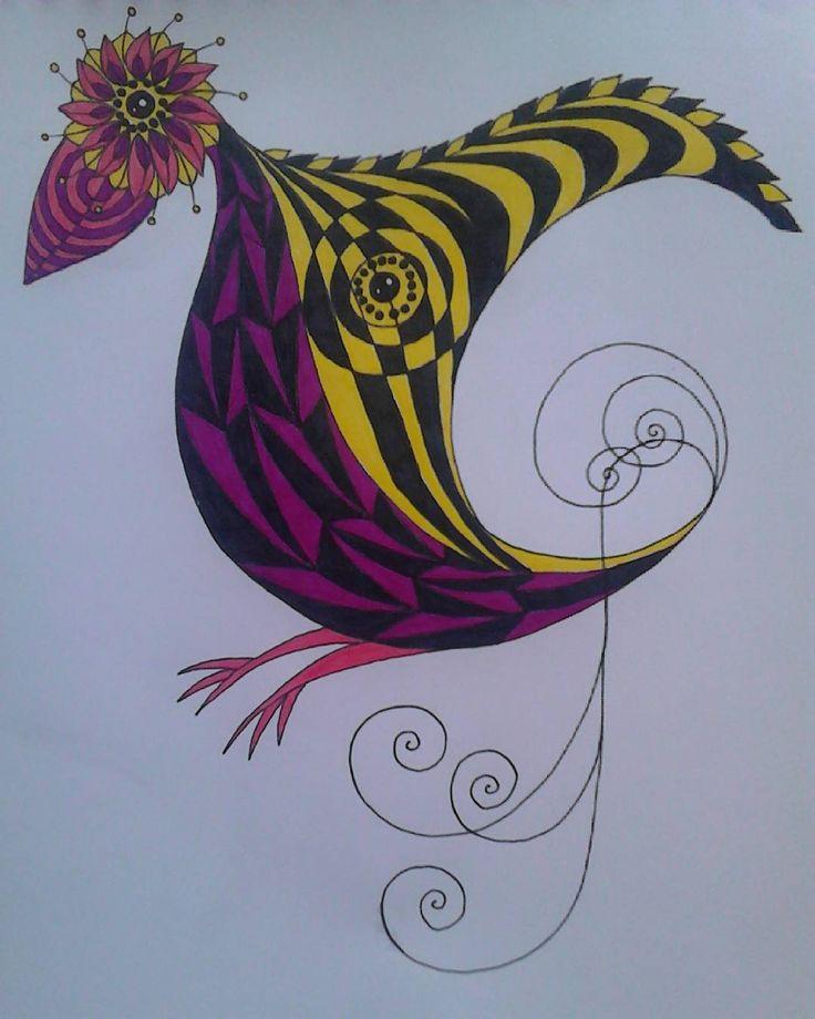 Птица по-моему/Bird by me/Madár, ahogy én látom :) #птица #рисунок #самасделала #цветной #фломастеры #абстракт #круглыеформы #madár #rajz #éncsináltam #színes #filctollak #absztrakt #kerekformák #bird #drawing #madebyme #colored #feltpens #abstract #roundforms