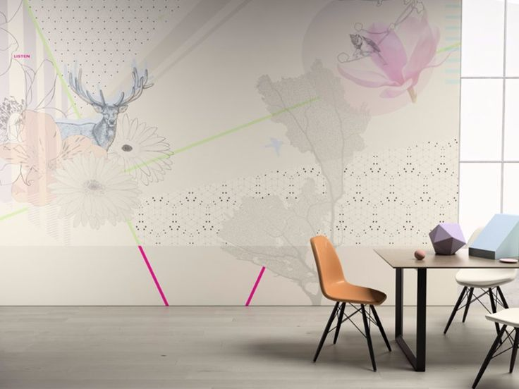 Motif washable vinyl wallpaper LISTEN Senses Collection by GLAMORA