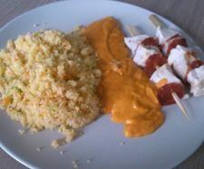 Recette poulet chorizo et semoule en multicuisson par karineo - recette de la catégorie Plat principal - divers