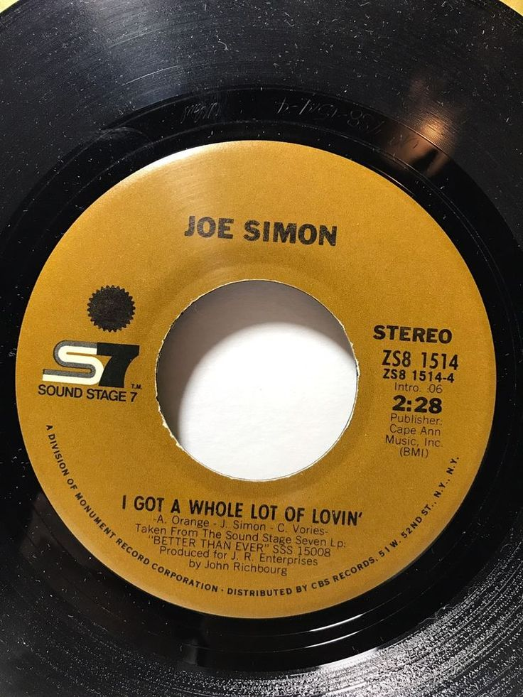 JOE SIMON - SS7 1514 - Someone to Lean On - 45 w/company sleeve | Music, Records | eBay!