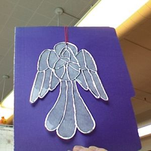 This is a guide about making dryer sheet angels. Instead of throwing your used dryer sheets away, use them to make these adorable decorations. The finished project resembles a stained glass angel.