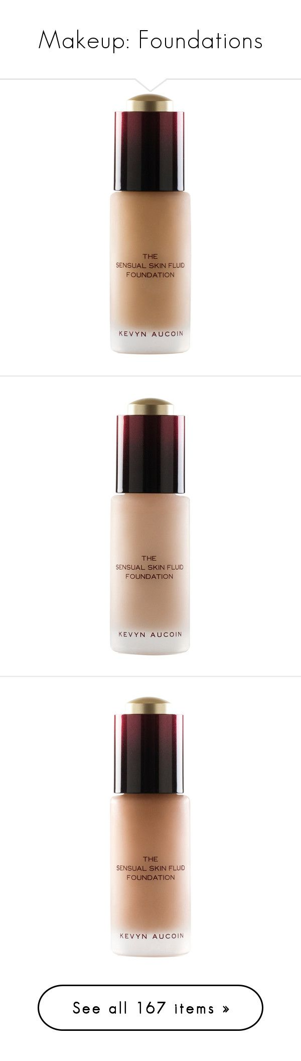 """""""Makeup: Foundations"""" by katiasitems on Polyvore featuring beauty products, makeup, face makeup, foundation, cream, paraben-free foundation, oil free foundation, anti aging foundation, oil free paraben free foundation and long wear foundation"""