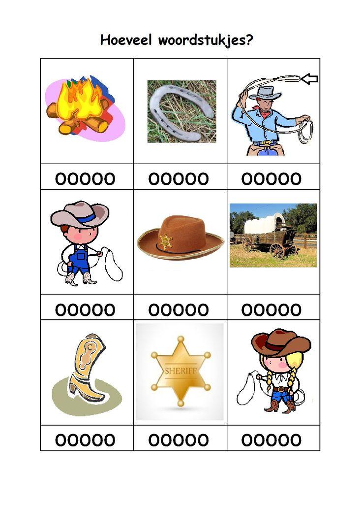 * Hoeveel woordstukjes? Cowboy