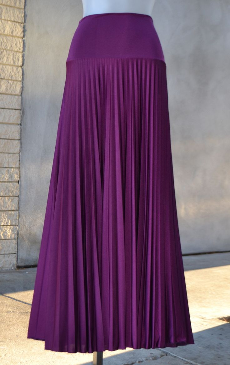 purple orchid pleated maxi skirts maxi skirt long