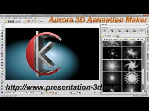 3D Animation Software | Text and Logo Animation Demo | Aurora3D Software  http://www.presentation-3d.com/products/animation-3d.html