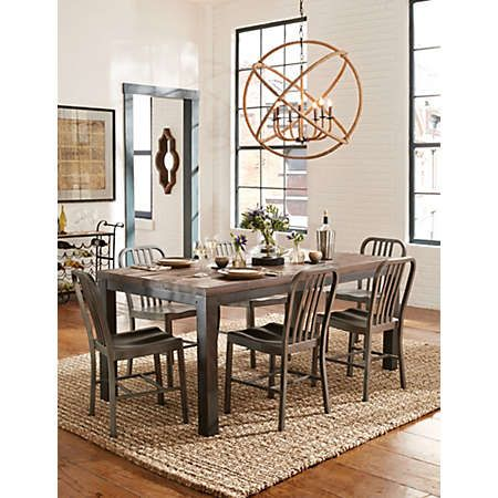 The Crossroads Dining Collection Is All About Style And Versatile Design With Multiple Table Chair Options To Choose From Mix Farmhouse Metal