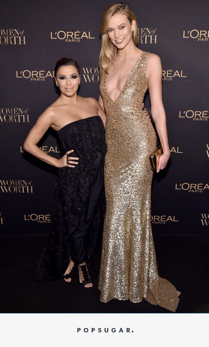 Eva Longoria Experienced the Ultimate Short Girl Problem — on the Red Carpet and With Karlie Kloss