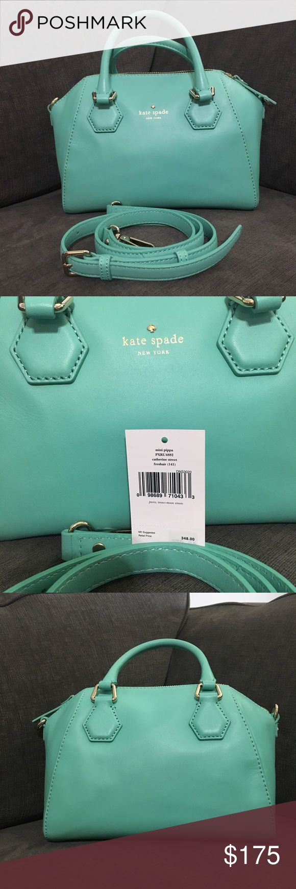 EEUC Catherine St. mini Pippa (fresh air) EEUC Catherine Street, mini Pippa bag in fresh air . Single zipper opening; double short straps for arm carry and long strap for short carry included. Please see all pictures for dimensions and wear. Smoke free, pet friendly home. Offers welcome! kate spade Bags