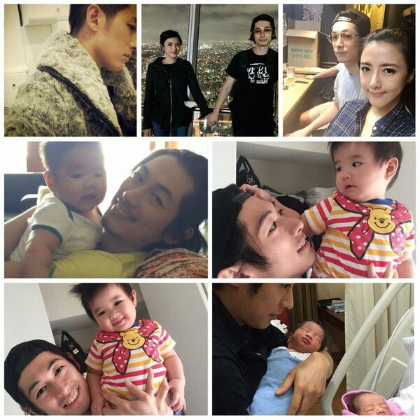 Dean Fujioka and family. The twins are so kawaiii
