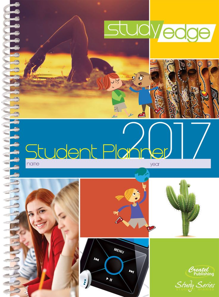 StudyEdge is an A5 full-colour diary for students in Years 7 to 12. Offering students a useful reference section with over 70 information-filled pages covering topics from Motivation and Goal Setting to Career Planning and Cyber Safety, as well as over one hundred bite-sized practical tips throughout, StudyEdge is designed to engage and motivate students and give them a competitive edge in their school and personal lives.