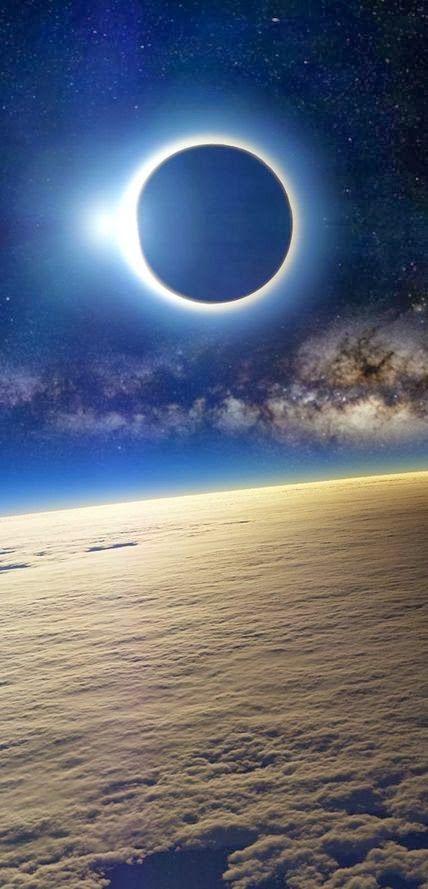 Solar Eclipse as Seen From Earth's Orbit lσvє ♥ #bluedivagal, bluedivadesigns.wordpress.com