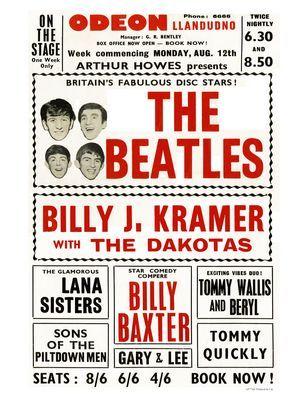 AP776E - Beatles at Llandudno Odeon, Concert Poster (30x40cm Art Print)