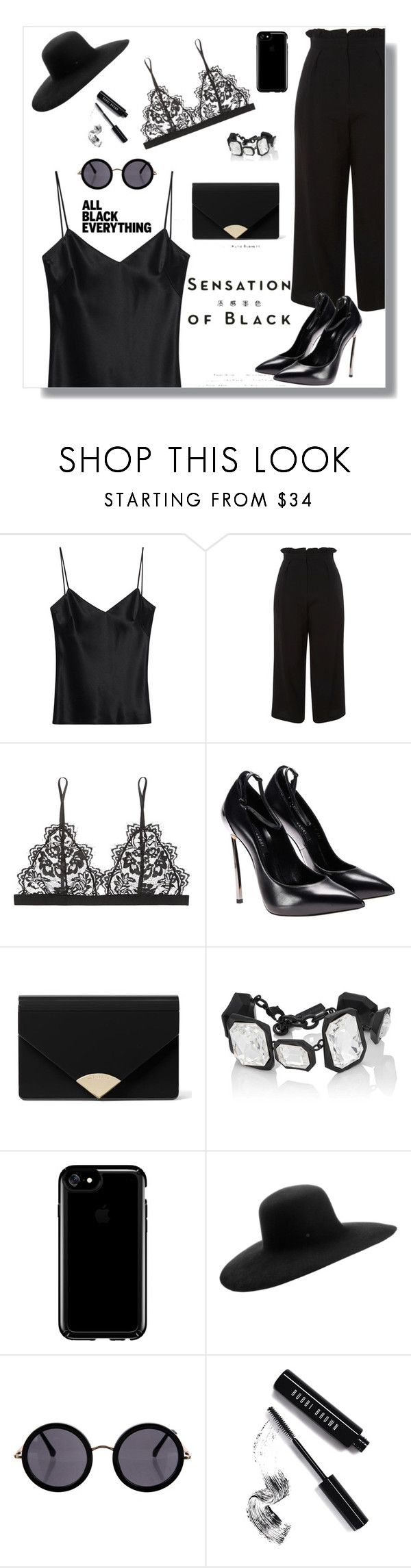 """All-Black"" by sofifer ❤ liked on Polyvore featuring Galvan, Topshop, Anine Bing, Vision, MICHAEL Michael Kors, AMBUSH, Speck, Maison Michel, The Row and Bobbi Brown Cosmetics"