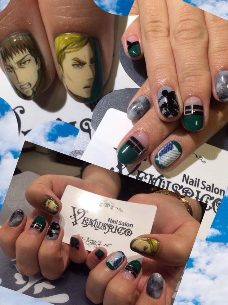 進撃の巨人(Attack on Titan)ジャン&エルヴィン : Character nail art