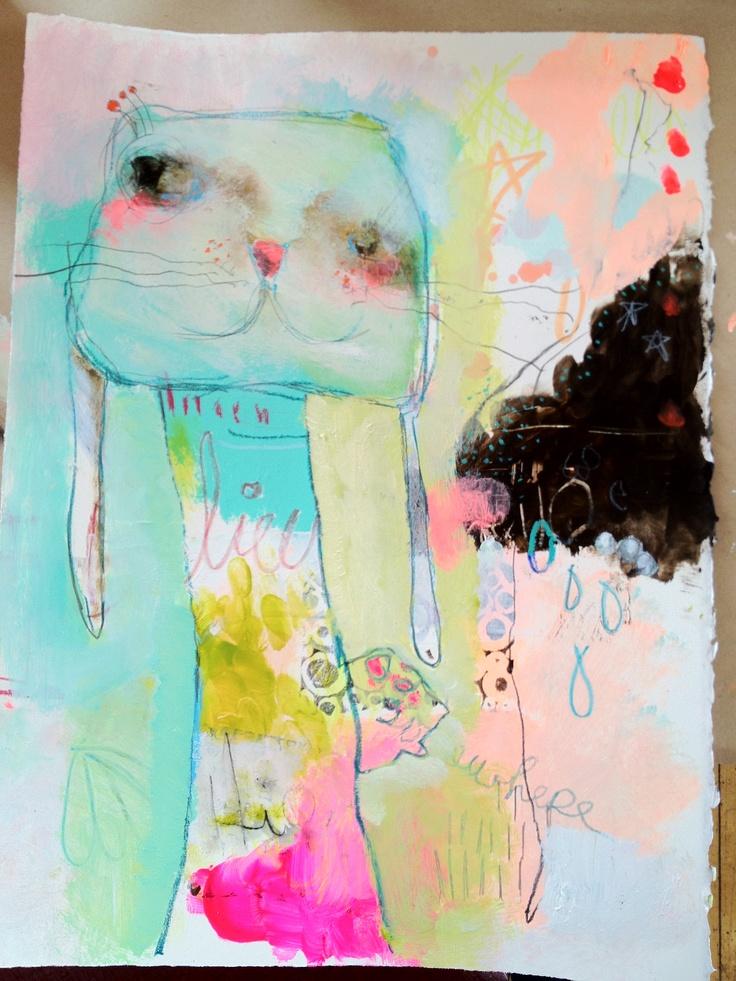 mindy lacefield artfest class sample bunny