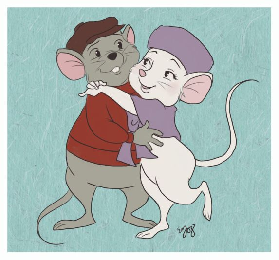 Awwwww! I love these movies... Bernard and Miss Bianca - Rescuers and Rescuers Downunder
