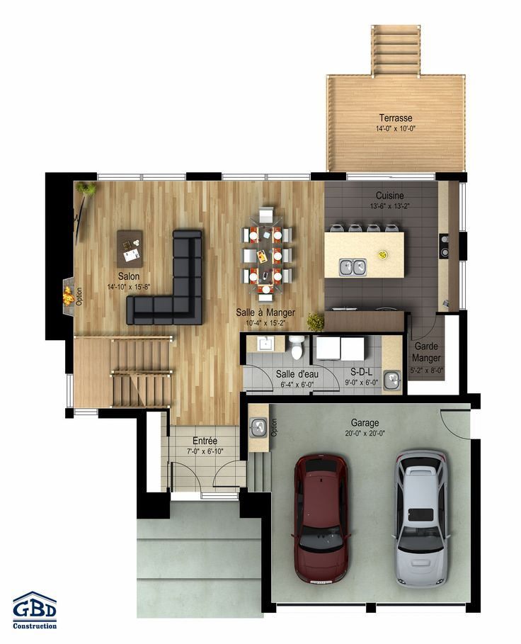 Manhattan maison neuve deux tages de type cottage for Plan maison deux etages
