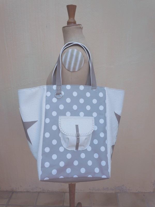 New bag for me, fabric peas and skai
