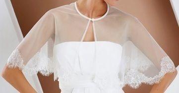 Cape Poncho Bianco Evento - Hauts de Seine | Robes de mariée d'occasion | Scoop.it