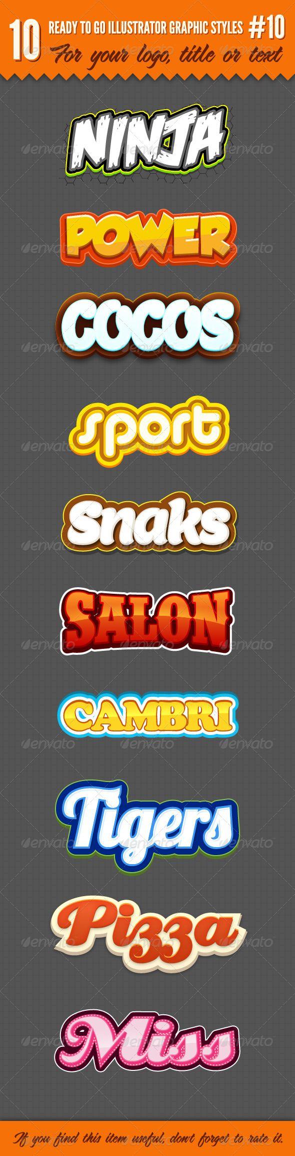 10 Logo Graphic Styles #10