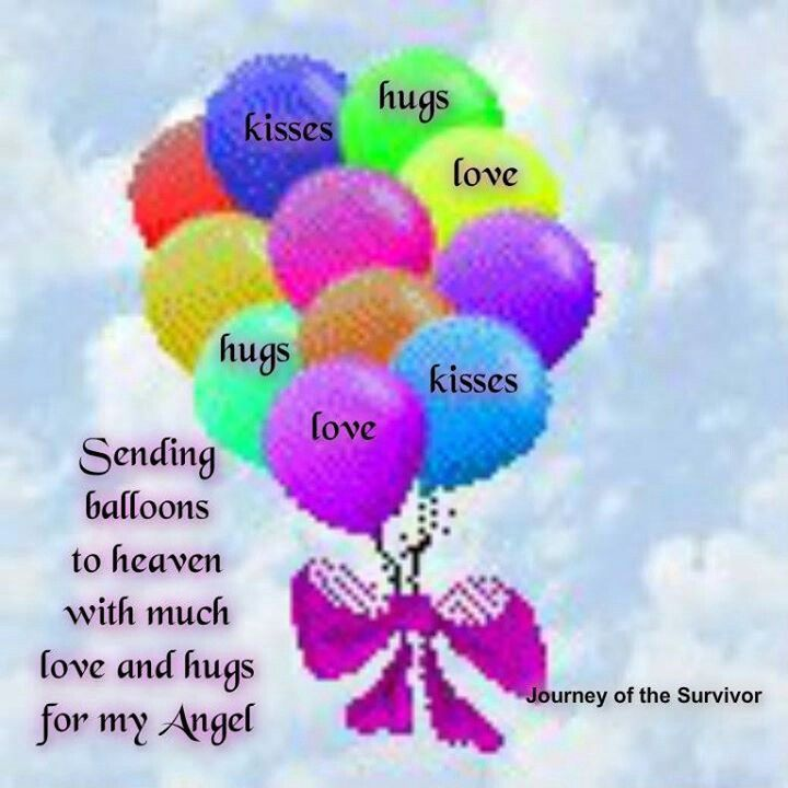 Sending Happy Birthday Wishes To Heaven Balloons Gigi Did This Tonite For