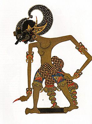 Traditional Wayang Kulit Puppet (Shadow puppet)